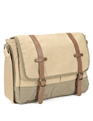 Cotton Rich Two Tone Dispatch Bag