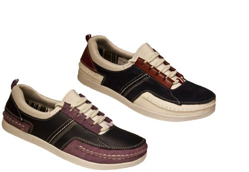 Ladies Womens Red/Lilac Real Leather YACHTSMAN Deck Shoe Comfort Trainers
