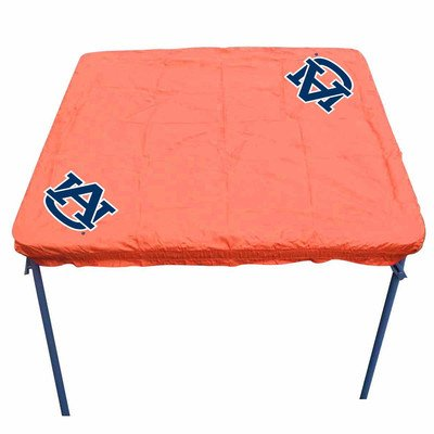 Rivalry Outdoor Tailgating Team Logo Auburn Card Table Cover - Orange