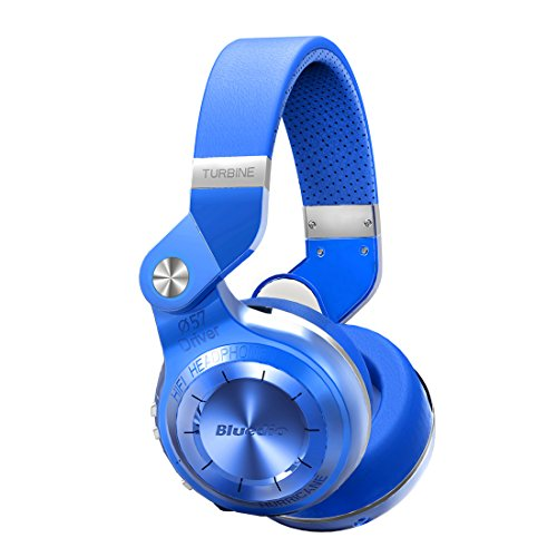 Bluedio T2S Turbine 2 Bluetoothワイヤレスヘッドホン イヤホン 折畳回転式 ブルー