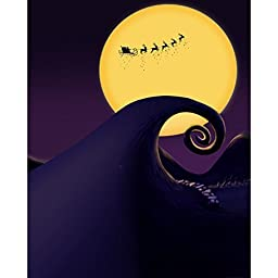 Nightmare Before Christmas Printed Backdrop - 5ft x 6ft Poly Paper