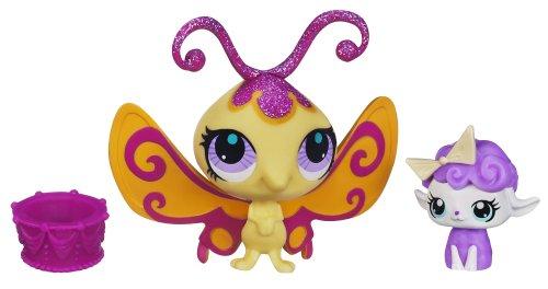 Littlest Pet Shop - Sweetest - Butterfly #3128 Lamb #3129