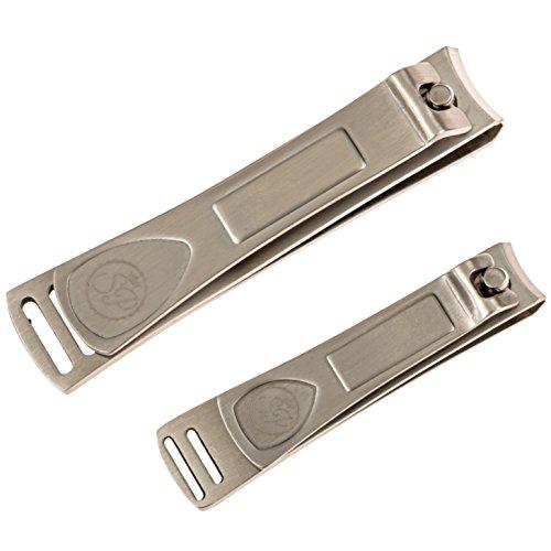 Premium Nail Clipper Set - Stainless Steel Fingernail ...