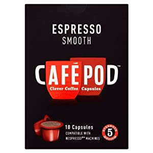 CafePod Nespresso Compatible Smooth Coffee Capsules 10 per pack
