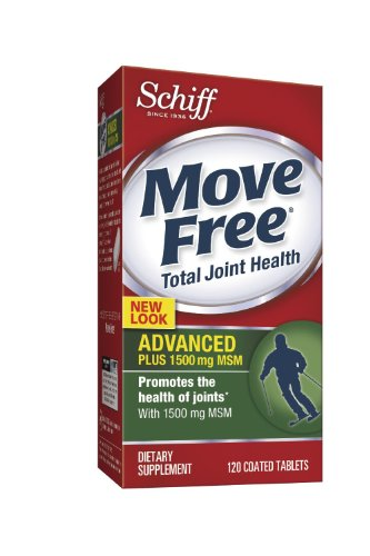 Schiff Move Free 1500 Mg. Advanced Plus Msm - 120 Tablets, Pack Of 4