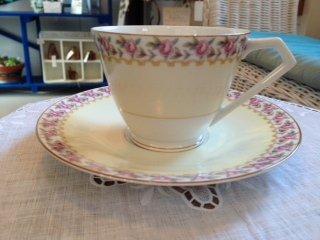 オールドノリタケ マルキ 可愛い野薔薇のカップ&ソーサー