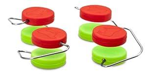 Dreamfarm Chobs 2-Inch Board Protectors, Red/Green