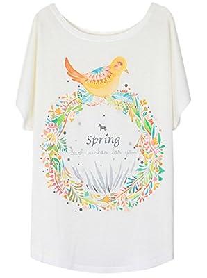Aubig Womens Animal Digital Printed Pullover Scoop Neck Tee Basic T-Shirts Tops
