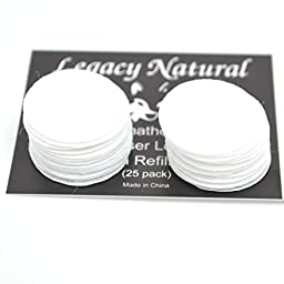 (25 Pack) Aromatherapy Diffuser Locket Necklace Refill Pads