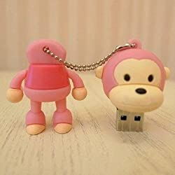 Ricco ® Baby Monkey USB High Speed Flash Memory Stick Pen Drive Disk (8GB PINK)