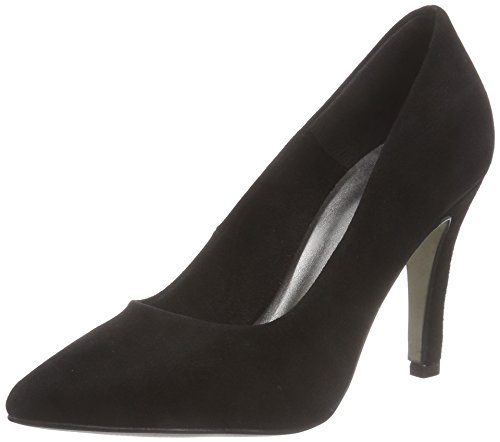 Tamaris 22432, Decolleté chiuse donna, Nero (Schwarz (Black Suede 004)), 39
