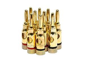 Conectores Monoprice 109437 conectores tipo tornillo de alta calidad, de latón 5 pares tipo banana
