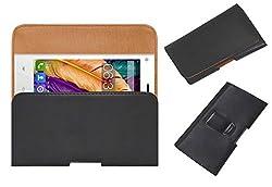 Acm Belt Holster Leather Case For Digimac 3X Mobile Cover Holder Clip Magnetic Closure Black