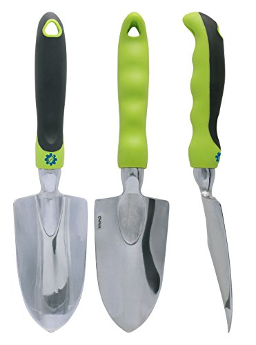 Premium 3 piece garden tool set the toughest gardening for Ladies garden trowel set