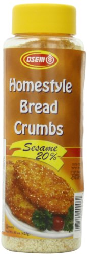 Osem Homestyle Bread Crumbs, Sesame 20%, 15 Ounce (Pack of 12) (Fine Bread Crumbs compare prices)
