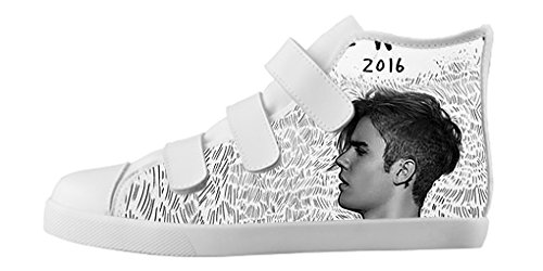 ZUXZ Custom Music Star Justin Bieber Boy's Canvas Shoes Footwear Sneakers Flat Shoes (Justin Bieber Shoes For Boys compare prices)