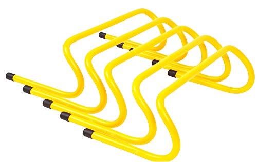 """Trademark Innovations Speed Training Hurdles (Pack of 5), 12"""""""