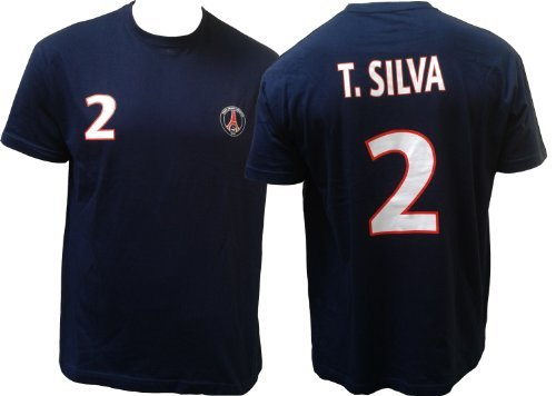 boutique du supporter maillots t shirt thiago silva n. Black Bedroom Furniture Sets. Home Design Ideas