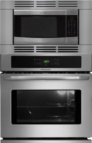 Frigidaire 27 Inch Stainless Steel 3 Piece Wall Oven Microwave Combo FFEW2725LS_FFMO1611LS_FFMOTK27LS