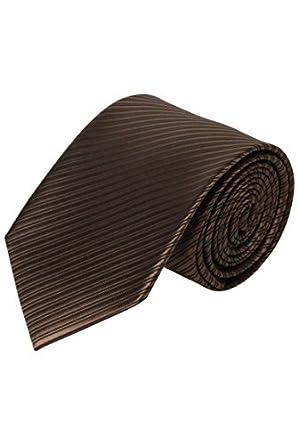Cravate de cérémonie pour homme - Marron Rayé - Unique