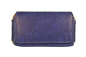 Totta Pu Leather Hand Pouch For Lg Spree, Blue
