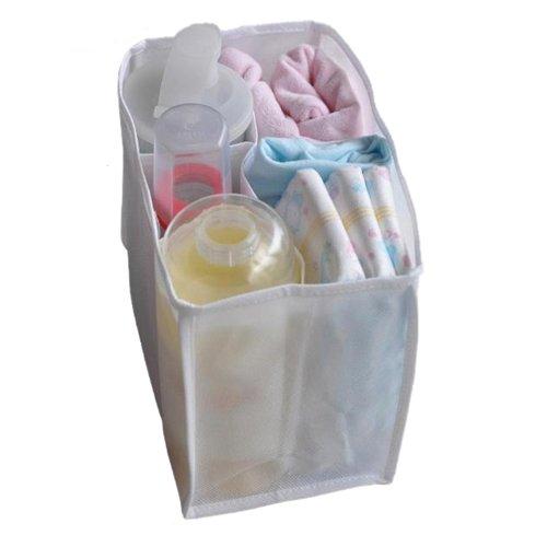 Baby Diaper Milk Bottle Divider Storage Bag White L Size