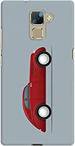 honor 7 back case cover ,Vintage Red Coupee Designer honor 7 hard back case cover. Slim light weight polycarbonate case with [ 3 Years WARRANTY ] Protects from scratch and Bumps & Drops.