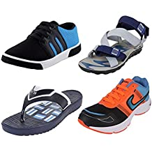 Bersache COMBO Pack Of 4 Of Sports Shoes With Casual Shoes,Sandal & SlippeRr