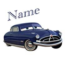 Cushion Cover plus Iron-On Transfer Cars with Personal Name