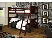 Hot Sale Bunk Bed Twin over Twin Mission-Style in Cappuccino