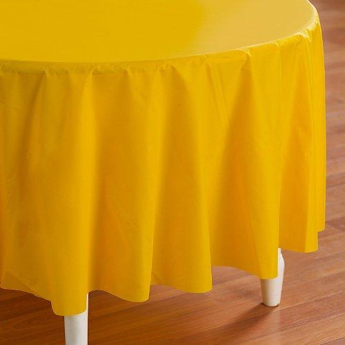 "Hallmark - Yellow 84"" Tablecover"
