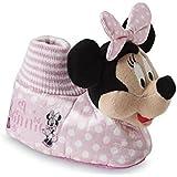 Disney Toddler Girl's Minnie Mouse Pink Socktop Slipper