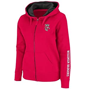 Wisconsin Badgers Ladies Full Zip Titan Fleece Hooded Sweatshirt by SportShack INC
