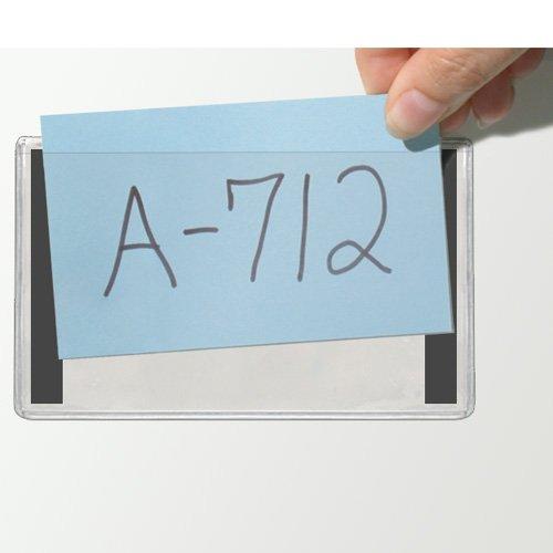 "Storesmart® - 4"" X 6"" Clear Plastic Pockets For Refrigerator Or Locker - Open Long Side - Magnetic Strips Along Short Sides - 25-Pack - Pe107Ml2-25 front-245760"