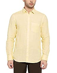 Colorplus Men's Casual Shirt (8907397535301_CMSS25914-Y3_X-Large_Medium Yellow)