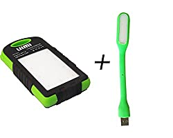ESP. OFFER ON UIMI U3 6000 mAh Powerbank with FREEEE USB LED LAMP( LED ' color may vary )...