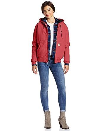 Carhartt Women's Sandstone Duck Active Jacket, Crab Apple, X-Small