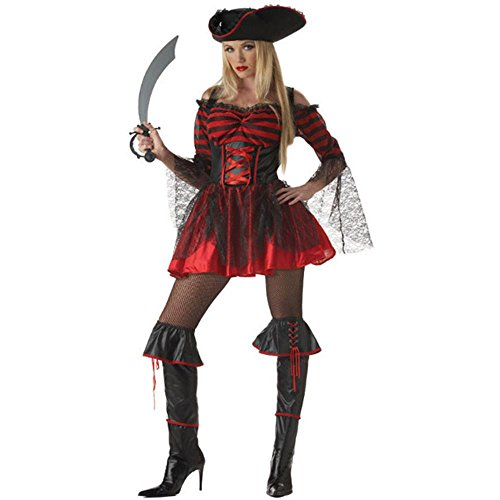 Booty-licious Pirate Adult Halloween Costume Size 6-8 Small