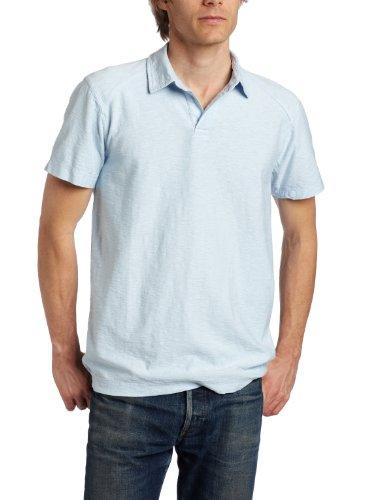 Calvin Klein Jeans Men's Slub Short Sleeve Jersey, Blue Fog, Large