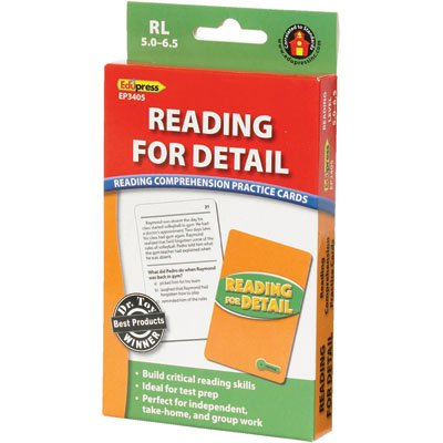 Reading for Detail Practice Cards Green Level - 1