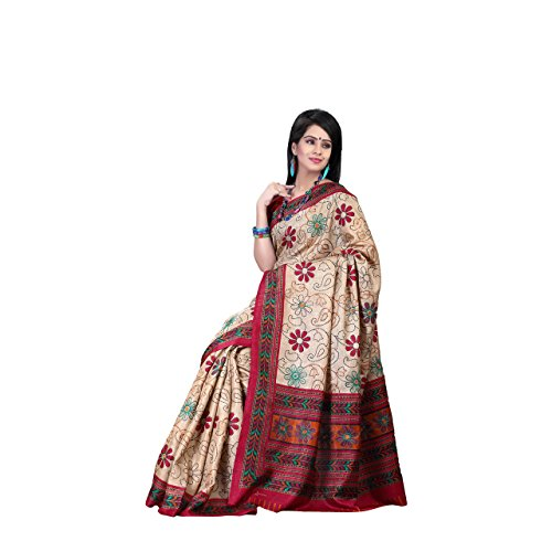 Aesha Silk Blend Printed Saree