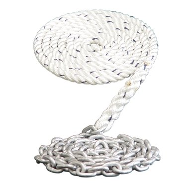 Windlass Anchor Rode 1/2 3-Strand Nylon rope splice to G4 1/4 Galvanized Chain