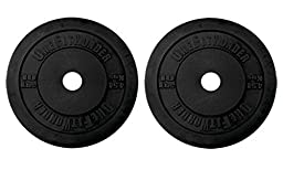 10lb Black Bumper Plate Pairs by OneFitWonder - Weightlifting & Strength Training Equipment