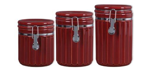 certified international 14900 firenze 3 piece canister set 4 piece canister set crimson walmart com