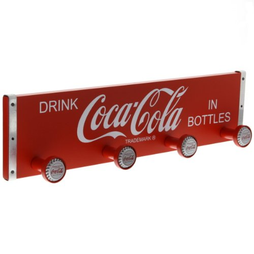 Retro Collectible Coke Coca Cola Wooden Crate Coat Rack w/Bottle Cap Hangers