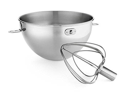 Kitchenaid Kn3Cw 3-Qt. Stainless Steel Bowl & Combi-Whip - Fits Bowl-Lift Models Kv25G And Kp26M1X