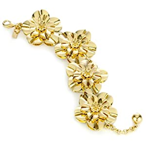 "Kate Spade New York ""Swim Team"" Flower Bracelet In Gold"