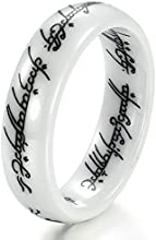 Virgin Shine Ceramic Slim Old Words Surface Promise Ring