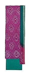 Bandhej Mart Women's Cotton Salwar Suit Material (Pink and Green)