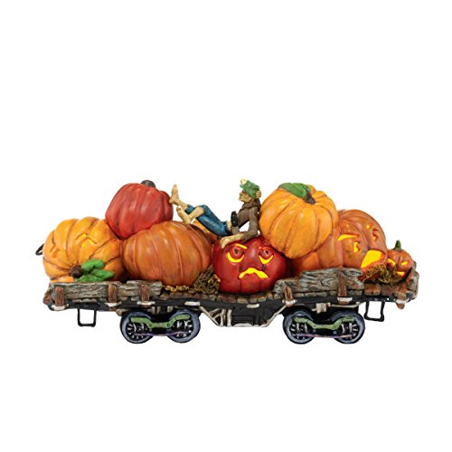 Department 56 Snow Village Halloween Jack and His Lanterns Train Car Lit Ornament, 2.76-Inch